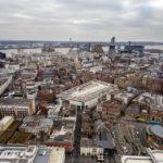 Blick auf Liverpool vom Fernsehturm St. John's Beacon aus gesehen