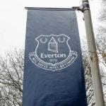 Eine Flagge des FC Everton