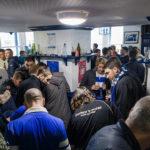 Einstimmen auf das Match Everton - Arsenal im People's Pub im Winslow Hotel