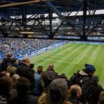 Blick auf das Spielfeld im Stadion Goodison Park des FC Everton