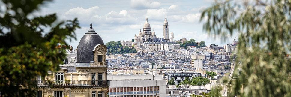 Blick auf Montmartre in Paris