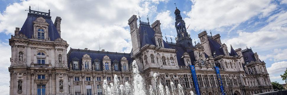 Das Rathaus (Hôtel de Ville) in Paris