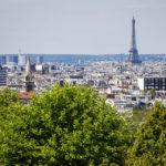 Blick vom Aussichtspunkt Belvédère de Belleville in Richtung Eiffelturm