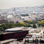 Blick von der Aussichtsterrasse des Eiffelturms in Richtung Montmartre