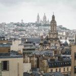 Blick von der Aussichtsterrasse des Kaufhauses Printemps Haussmann in Richtung Montmartre