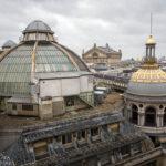 Blick von der Aussichtsterrasse des Kaufhauses Printemps Haussmann auf die Kuppel des Gebäudes