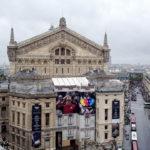 Blick von der Aussichtsterrasse des Kaufhauses Galeries Lafayette Haussmann in Richtung Opernhaus