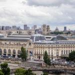 Blick vom Riesenrad auf dem Place de la Concorde in Richtung Musée d'Orsay
