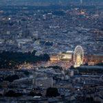 Blick von der Aussichtsterrasse des Tour Montparnasse in Richtung Place de la Concorde