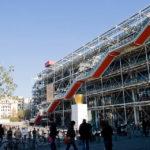 Blick auf das Kunstmuseum Centre Pompidou