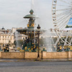 Der Brunnen Fontaine des Mers auf dem Place de la Concorde