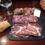 Feine Fleischplatte im Restaurant La Fresque