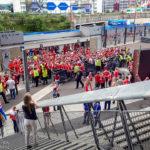 Fans im Stadion Stade de France vor dem Euro-2016-Spiel Österreich – Island
