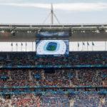 Innenansicht des Stadions Stade de France vor dem Euro-2016-Spiel Österreich – Island