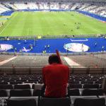 Ein enttäuschter österreichischer Fan im Stadion Stade de France nach dem Euro-2016-Spiel Österreich – Island