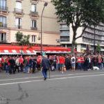 Fans auf dem Weg zum Euro-2016-Spiel Portugal – Österreich in Paris