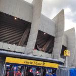 Außenansicht des Stadions Parc de Princes in Paris vor dem Euro-2016-Spiel Portugal – Österreich