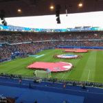 Innenansicht des Stadions Parc de Princes in Paris vor dem Euro-2016-Spiel Portugal – Österreich