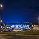 Außenansicht des Stadions Parc de Princes in Paris nach dem Euro-2016-Spiel Portugal – Österreich