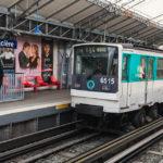 Die Pariser Métro fährt auf Gummireifen und Schienen