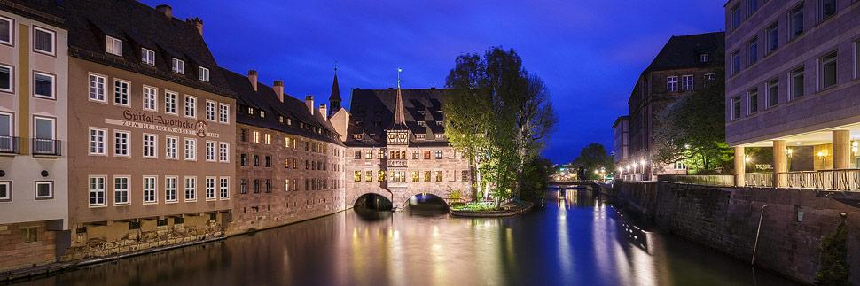 Blick auf das Heilig-Geist-Spital in Nürnberg
