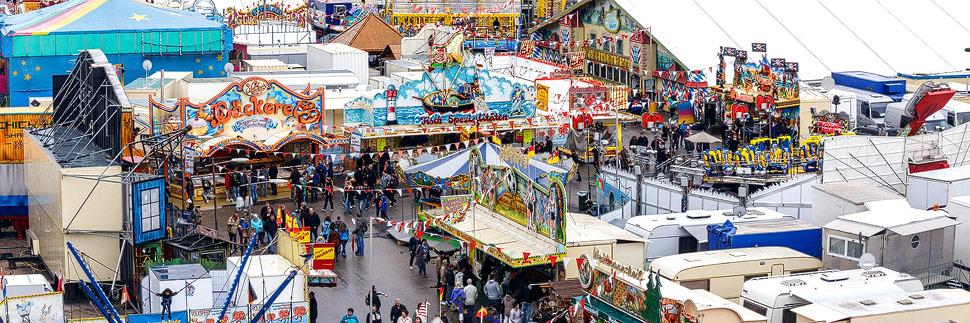 Blick auf das Nürnberger Volksfest