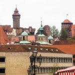 Blick auf die Kaiserburg von der Lorenzkirche aus gesehen