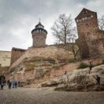Auf dem Weg zum Eingang der Kaiserburg