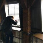 Das Fotografieren im Sinwellturm ist durch die engen Eisenstreben herausfordernd