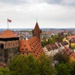 Blick aus dem Sinwellturm auf einen Teil der Nürnberger Kaiserburg