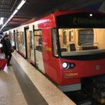 U-Bahn-Linie U2 in der Station Flughafen