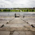Blick auf das Zeppelinfeld auf dem Reichsparteitagsgelände