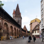 Die Nürnberger Stadtmauer (Frauentormauer) in der Altstadt