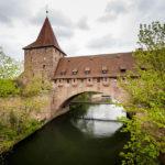 Die Nürnberger Stadtmauer (Schlayenturm und Kettensteg) in der Altstadt