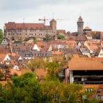 Ausblick auf die Kaiserburg vom Turm der Sinne