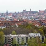 Blick vom Riesenrad auf die Innenstadt Nürnbergs