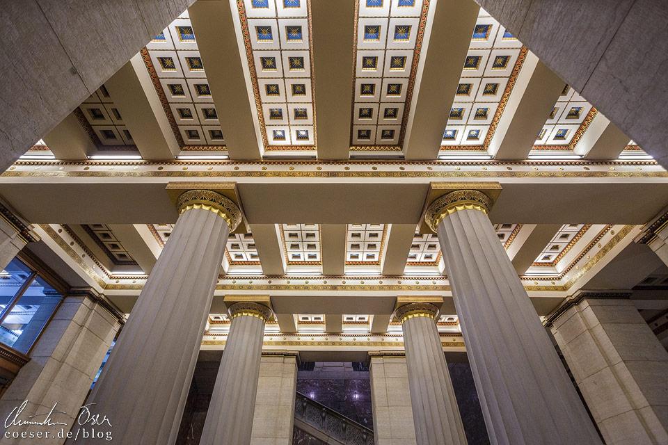Decke des unteren Vestibüls im Wiener Parlament