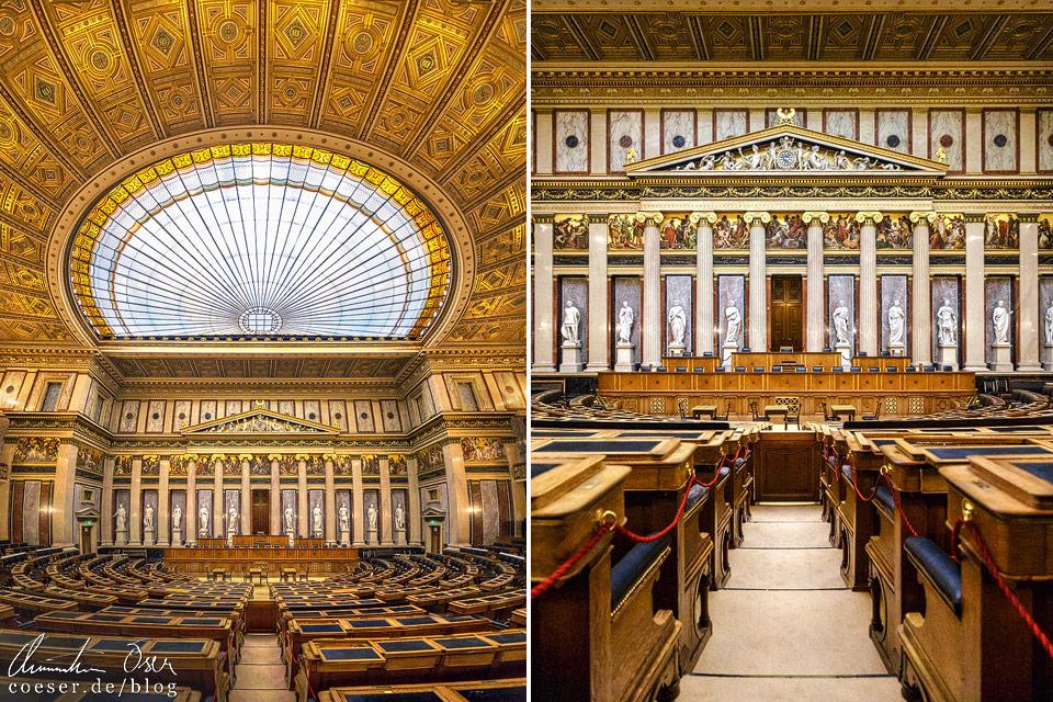 Historischer Sitzungssaal im Wiener Parlament