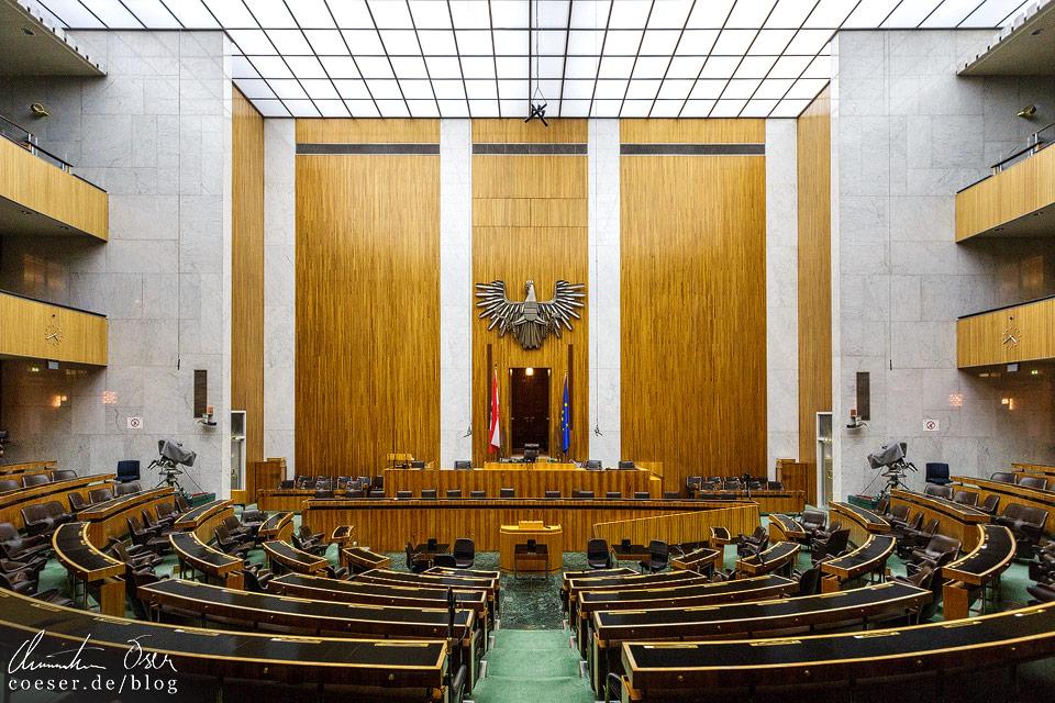 Sitzungssaal des Nationalrats im Wiener Parlament