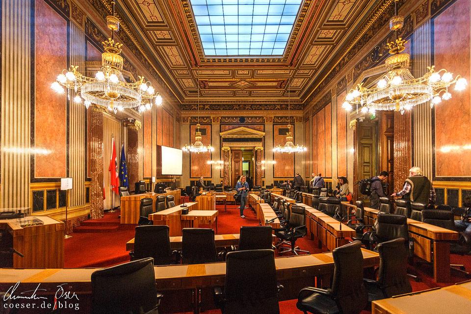 Sitzungssaal des Bundesrates im Wiener Parlament