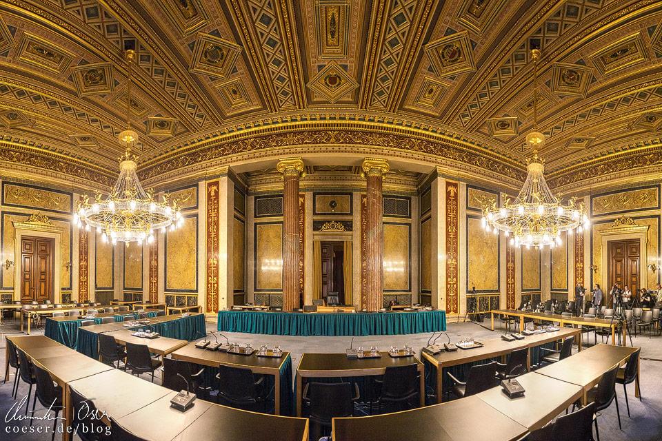 Budgetsaal im Wiener Parlament