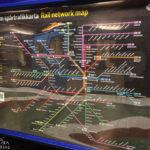 Ein Netzplan der öffentlichen Verkehrsmittel