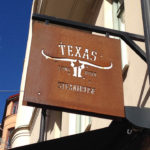 Schild des Restaurants Texas Longhorn (Svartmangatan 11)