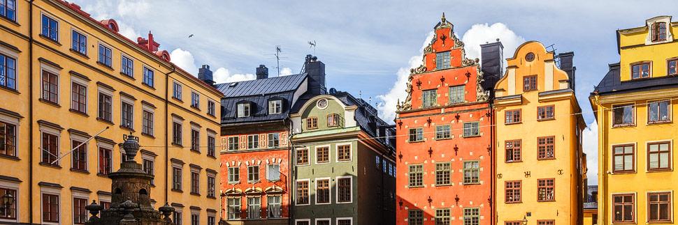 Der Platz Stortorget in der Stockholmer Altstadt Gamla Stan