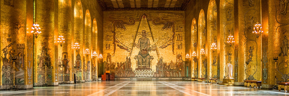 Der Goldene Saal im Stockholmer Rathaus
