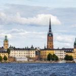 Fantastische Blicke auf Stockholm vom Schiff aus gesehen