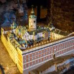 """Modell des ursprünglichen Königlichen Schlosses zu Stockholm, manchmal """"Tre Kronor"""" (Drei Kronen) genannt"""