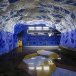 Die kunstvolle Tunnelbana-Station T-Centralen