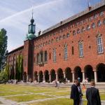 Außenansicht des Stockholmer Rathauses (Rådhuset)