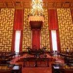 Der Sitzungssaal der Stadtregierung im Stockholmer Rathaus